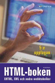 Omslagsbild för HTML-boken: XHTML, XML och andra webbtekniker, 5e upplagan