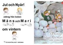 Cover for Jul och Nyår - utdrag från boken Måns och Mari om vintern - Barnbok med tecken för hörande barn