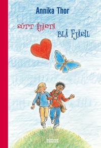 Omslagsbild för Rött hjärta blå fjäril
