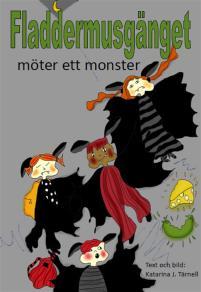 Omslagsbild för Fladdermusgänget möter ett monster