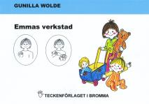 Cover for Emmas verkstad - Barnbok med tecken för hörande barn