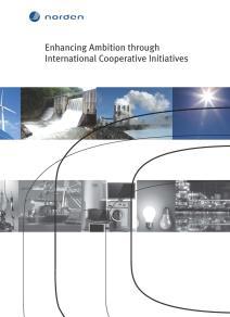 Omslagsbild för Enhancing Ambition through International Cooperative Initiatives