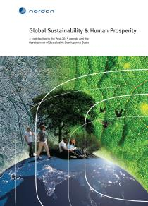 Omslagsbild för Global Sustainability & Human Prosperity