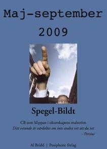 Omslagsbild för Spegel-Bildt, maj - september 2009. CB som klippan i okunskapens malström.