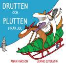 Bokomslag för Drutten och Plutten firar jul.