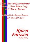 Omslagsbild för The Entrepreneur and the Making of Tax Laws