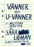 Omslagsbild för Vänner och u-vänner : Politiska skrifter