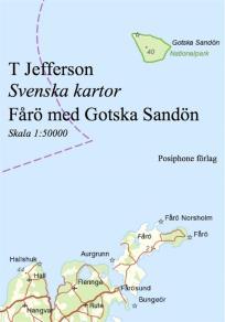 Omslagsbild för Svenska kartor: Fårö med Gotska Sandön