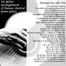 Bokomslag för 28 guitar arrangements of famous classical piano pieces: Guitar arrangements of classical piano music