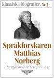 Omslagsbild för Språkforskaren Norberg – Återutgivning av text från 1833
