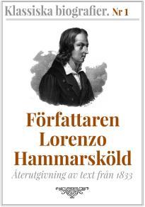 Omslagsbild för Författaren Lorenzo Hammarsköld – Återutgivning av text från 1833