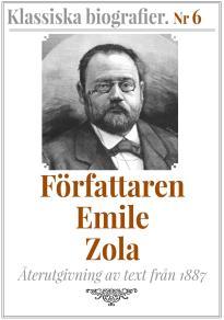 Omslagsbild för Författaren Emile Zola – Återutgivning av text från 1887