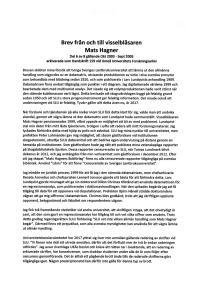 Omslagsbild för Brev från och till visselblåsaren Mats Hagner Del 6 av 8