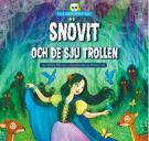 Omslagsbild för Snövit och de sju trollen