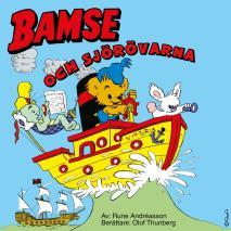 Omslagsbild för Bamse och sjörövarna