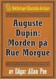 Omslagsbild för Auguste Dupin: Morden på Rue Morgue – Återutgivning av text från 1860