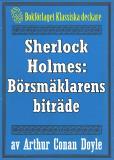 Omslagsbild för Sherlock Holmes: Äventyret med börsmäklarens biträde – Återutgivning av text från 1947