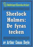 Omslagsbild för Sherlock Holmes: De fyras tecken – Återutgivning av text från 1911
