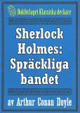 Omslagsbild för Sherlock Holmes: Äventyret med det spräckliga bandet – Återutgivning av text från 1947