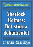 Omslagsbild för Sherlock Holmes: Äventyret med det stulna dokumentet – Återutgivning av text från 1918