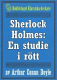 Omslagsbild för Sherlock Holmes: En studie i rött – Återutgivning av text från 1927