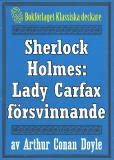 Omslagsbild för Sherlock Holmes: Lady Frances Carfax försvinnande – Återutgivning av text från 1915