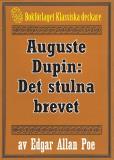Omslagsbild för Auguste Dupin: Det stulna brevet – Återutgivning av text från 1938