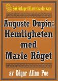 Omslagsbild för Auguste Dupin: Hemligheten med Marie Rôget – Återutgivning av text från 1938