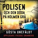 Omslagsbild för Polisen och den döde på Holmen grå