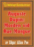 Omslagsbild för Auguste Dupin: Morden vid Rue Morgue – Återutgivning av text från 1938