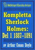 Omslagsbild för Kompletta Sherlock Holmes. Del 1 - åren 1887-1891