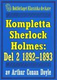 Omslagsbild för Kompletta Sherlock Holmes. Del 2 - åren 1892-1893