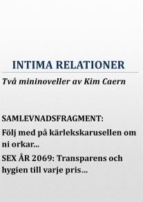 Cover for Intima relationer