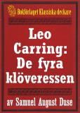 Omslagsbild för Leo Carring: De fyra klöveressen. Detektivroman. Återutgivning av text från 1935