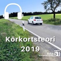 Omslagsbild för Körkortsteori 2019: den senaste körkortsboken
