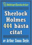 Omslagsbild för Sherlock Holmes 444 bästa citat om brottsbekämpning