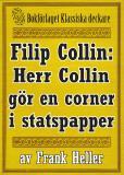 Omslagsbild för Filip Collin: Herr Collin gör en corner i statspapper. Återutgivning av text från 1949