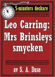 Omslagsbild för 5-minuters deckare. Leo Carring: Mrs Brinsleys smycken. Detektivhistoria. Återutgivning av text från 1926