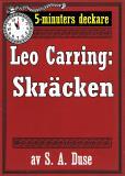 Omslagsbild för 5-minuters deckare. Leo Carring: Skräcken. Återutgivning av text från 1926