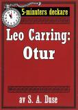 Omslagsbild för 5-minuters deckare. Leo Carring: Otur. Detektivhistoria. Återutgivning av text från 1925