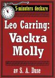 Omslagsbild för 5-minuters deckare. Leo Carring: Vackra Molly. Detektivhistoria. Återutgivning av text från 1926