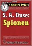 Cover for 5-minuters deckare. S. A. Duse: Spionen. Återutgivning av text från 1926