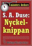 Cover for 5-minuters deckare. S. A. Duse: Nyckelknippan. Kriminalberättelse. Återutgivning av text från 1925