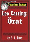 Cover for 5-minuters deckare. Leo Carring: Örat. Detektivhistoria Återutgivning av text från 1926