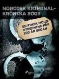 Omslagsbild för En finsk mordutredning för 100 år sedan