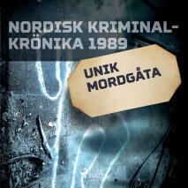 Cover for Unik mordgåta
