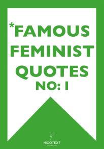 Omslagsbild för *FAMOUS FEMINIST QUOTES I