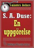Cover for 5-minuters deckare. S. A. Duse: En uppgörelse. Återutgivning av text från 1927