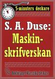 Cover for 5-minuters deckare. S. A. Duse: Maskinskrifverskan. Berättelse. Återutgivning av text från 1915