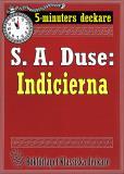 Cover for 5-minuters deckare. S. A. Duse: Indicierna. Brottmålshistoria. Återutgivning av text från 1917
